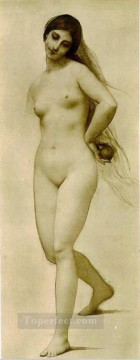 nude naked body Painting - Eve female body nude Jules Joseph Lefebvre